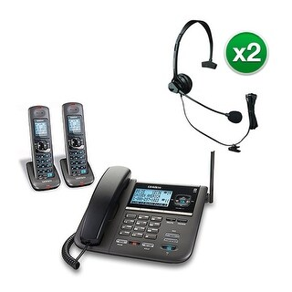 Uniden DECT4096-2 with Headset 2-Line DECT 6 Corded/Cordless Phone