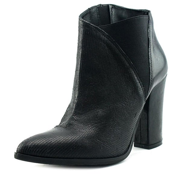 Charles David Charla Women Pointed Toe Leather Black Bootie