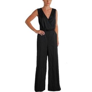 Lauren Ralph Lauren Womens Wool Pinstripe Jumpsuit