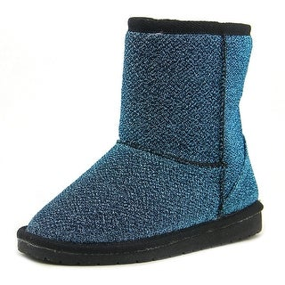 Dawgs Glitter Boots Youth Round Toe Canvas Blue Boot