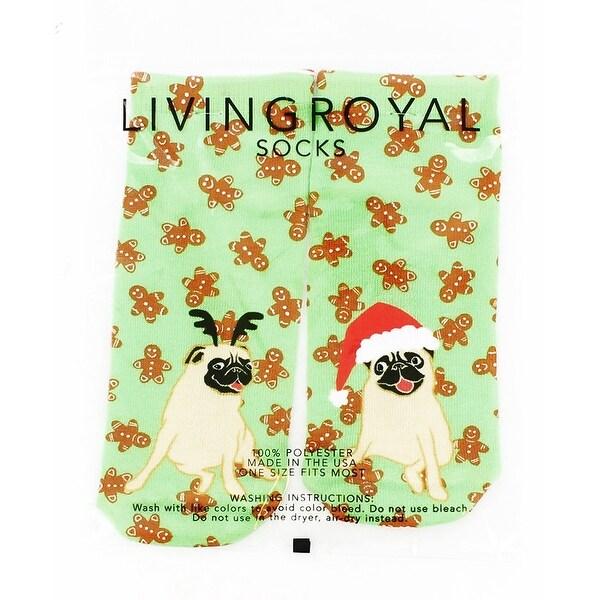 Christmas Pugs Ankle Socks - Multi