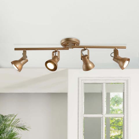 "Modern Adjustable 4-light Gold Linear Ceiling Track Lighting Kit for Kitchen - L29""xW5""x H 7.5"""