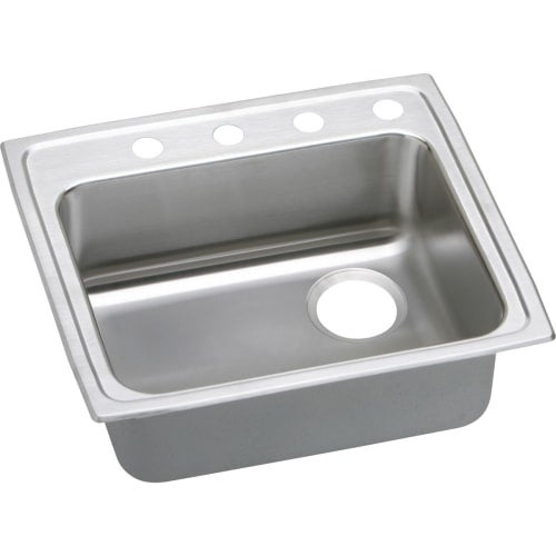shop elkay lrad252155r gourmet 25 single basin 18 gauge stainless rh overstock com overstock kitchen sinks undermount overstock kitchen sink faucets