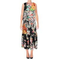 Lauren Ralph Lauren Womens Kate Casual Dress Floral Ruffled