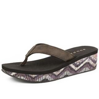 Roper Western Shoe Womens Chevron 2 Inch Wedge 09-021-0607-1160 BR