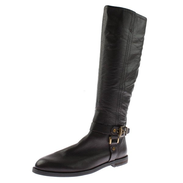 Franco Sarto Womens Vantage Riding Boots Leather Knee-High - 5.5 medium (b,m)