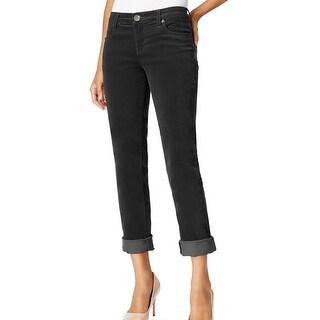 Kut From The Kloth NEW Black Women's Size 10 Boyfriend Corduroys Pants