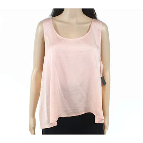 Free Press Womens Pink Size Small S Textured Layered Look Tank Top