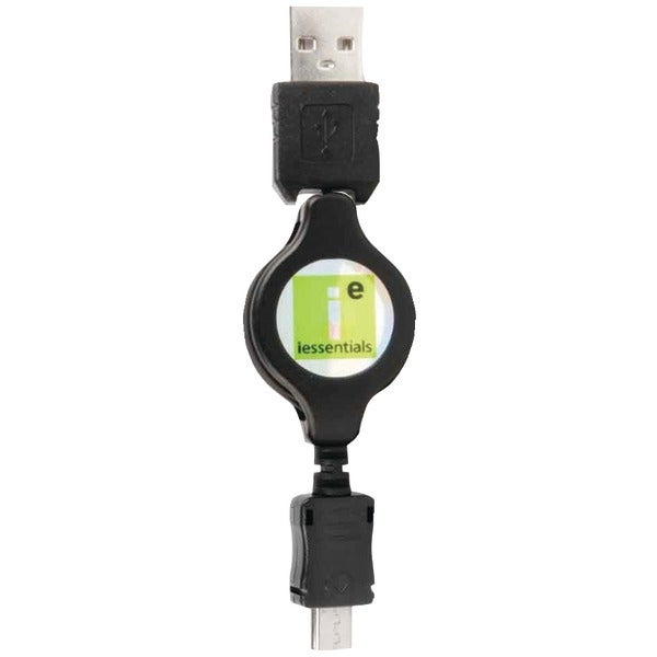 Iessentials Ie-Micro-Usbr Micro Usb To Usb Retractable Data Cable