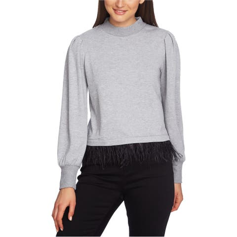 1.State Womens Feather Hem Pullover Sweater