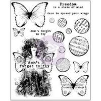 """Don't Forget To Fly - Finnabair Cling Stamps 6""""X7.5"""""""