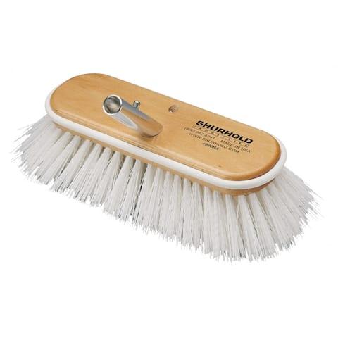 Shurhold 10 deck brush extra stiff white polypropylene