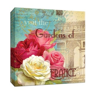 "PTM Images 9-146823  PTM Canvas Collection 12"" x 12"" - ""Gardens of France"" Giclee Flowers Art Print on Canvas"