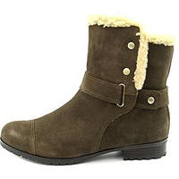 Giani Bernini Women's Lotii Round Toe Suede Winter Boot