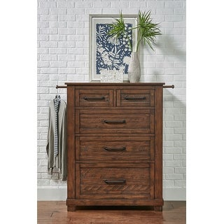 Link to Simply Solid Shelba Solid Wood 5-drawer Chest Similar Items in Dressers & Chests