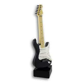 Black and White Electric Guitar Statue