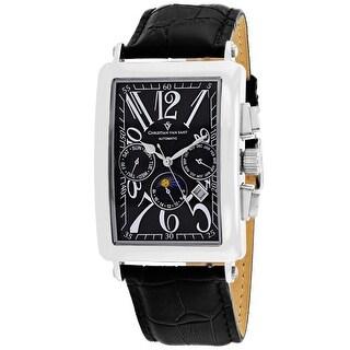 Christian Van Sant Men's Prodigy CV9130 Black Dial Watch