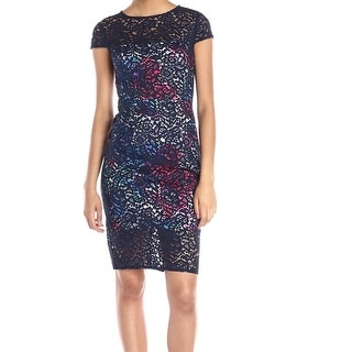Betsey Johnson NEW Blue Illusion Lace Women's Size 6 Sheath Dress