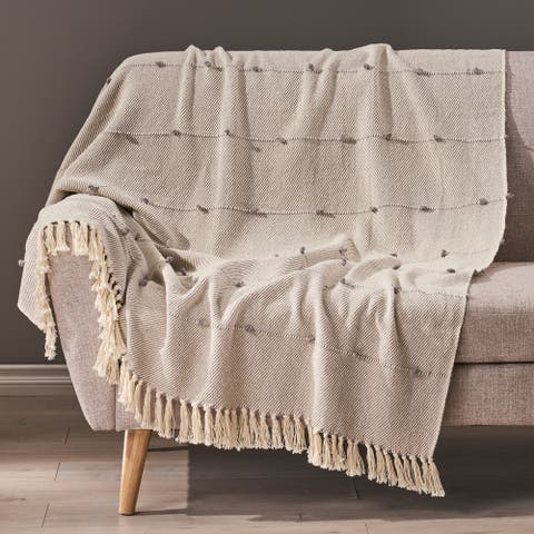 Roden Boho Fabric Throw Blanket by Christopher Knight Home