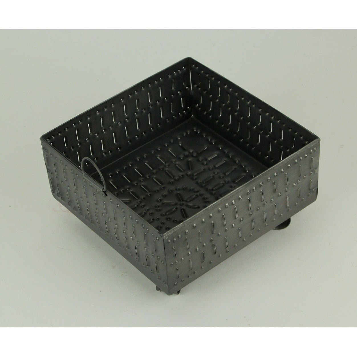 Primitive Punched Tin Napkin Holder Box Dining Table Or Kitchen Decor Overstock 29355383