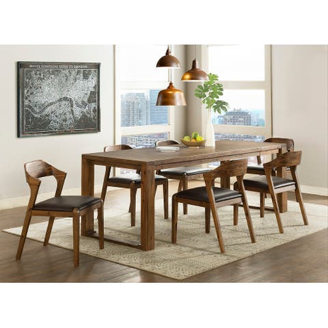 Rasmus Mid Century Wood 7 Piece Dining Set