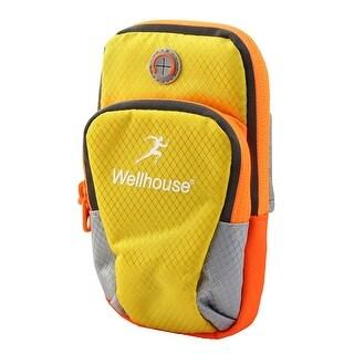Wellhouse Authorized Phone Holder Adjustable Running Sports Arm Bag Yellow M