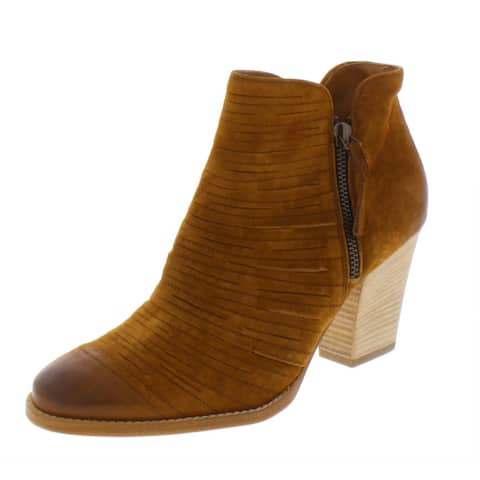 Paul Green Womens Malibu Ankle Boots Suede Sliced - Cognac Suede