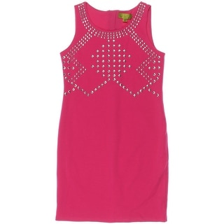 Nicole Miller Girls Studded Party Dress - L