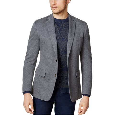 Tasso Elba Mens Stretch Two Button Blazer Jacket