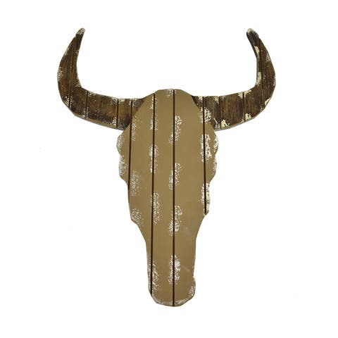 "Brewster D41091 Fetco Steer Head 17-3/4"" x 14-1/2"" MDF Wall Sculpture"