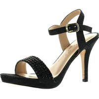 De Blossom Womens Robin-107 Ankle Strap Dress Sandals