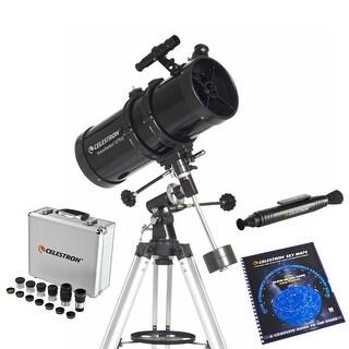 Celestron 21049 Bundle PowerSeeker 127mm Telescope With Geman Equatorial Mount Bundle