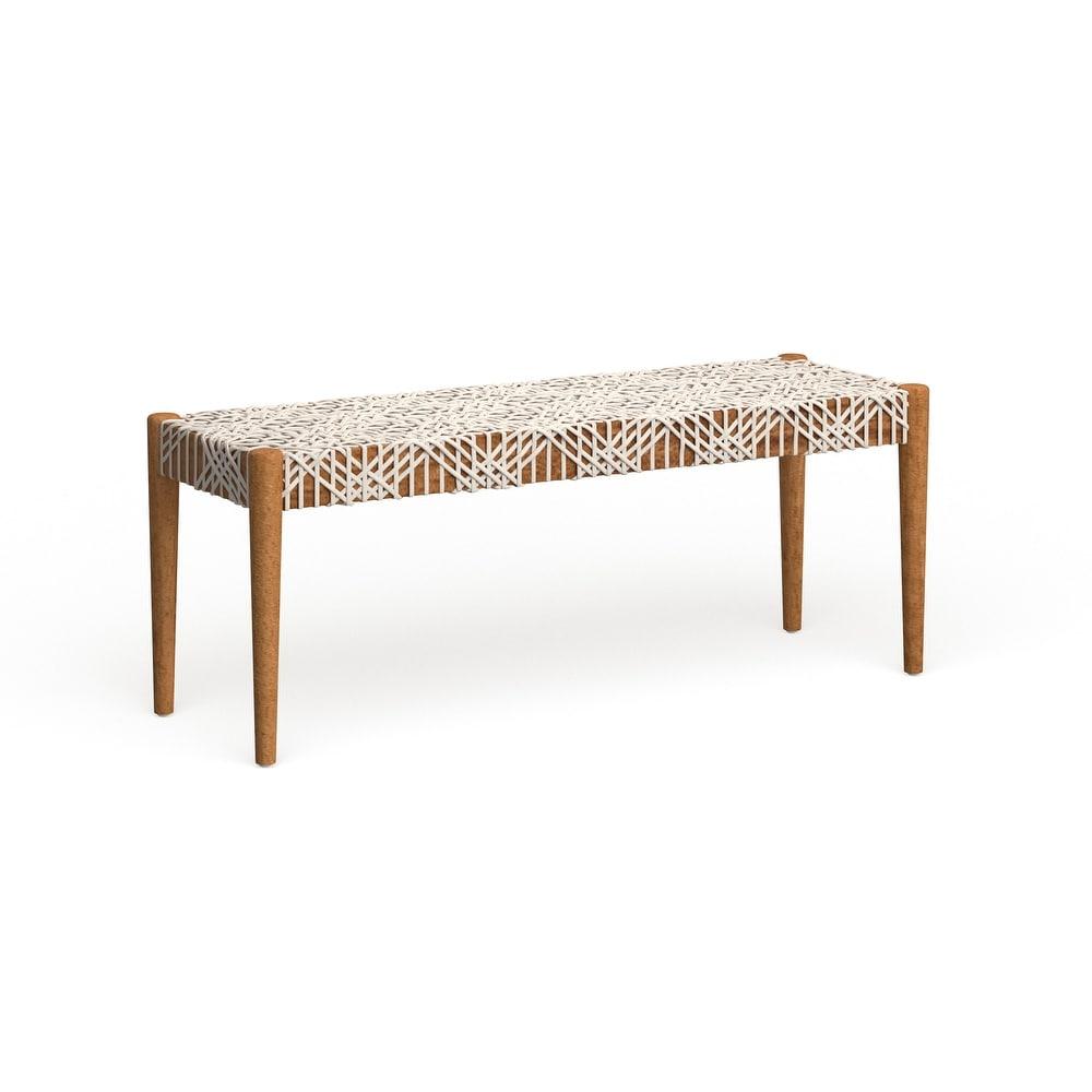 Shop Safavieh Bandelier Off-White/ Light Oak Bench from Overstock on Openhaus