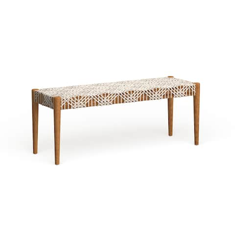 Safavieh Bandelier Wood and Leather Bench