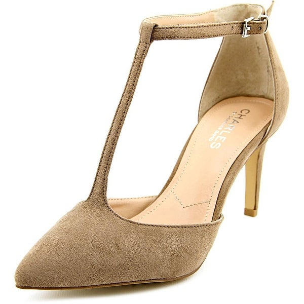 Charles By Charles David Lodge Women Pointed Toe Synthetic Tan Heels