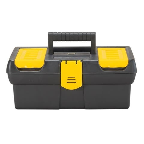 Stanley Tool STST13011 Polypropylene Tool Box, , Black/Yellow
