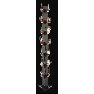 "72.5"" Shiny Black Display Night Light Tower for Retail and Showrooms"