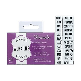 Contact USA Planner Details Stamp Set WorkLife24pc