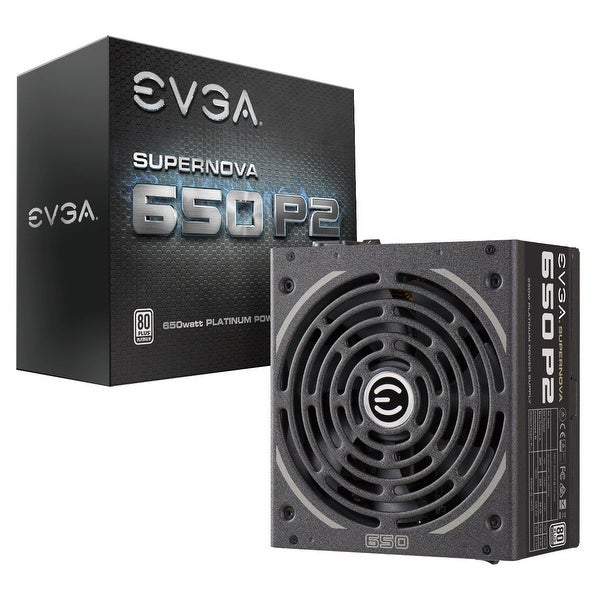 Evga Supernova 650 P2, 80+ Platinum 650W , Fully Modular , Evga Eco Mode, 10 Year Warranty , Includes Free Power On Self
