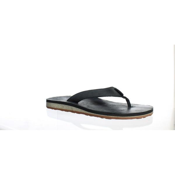 ebe831279185 Shop Teva Mens Classic Black Flip Flops Size 8 - On Sale - Free ...