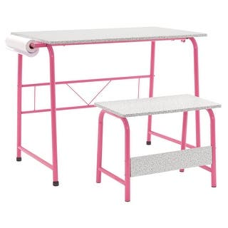 Offex Project Center, Kids Craft Table with Bench Gray - Pink|https://ak1.ostkcdn.com/images/products/is/images/direct/db7a62d7b1113022e5af7d5235aae18b0fd8363a/Offex-Project-Center%2C-Kids-Craft-Table-with-Bench-Gray---Pink.jpg?impolicy=medium