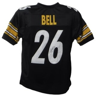 LeVeon Bell Autographed Pittsburgh Steelers black size XL jersey JSA