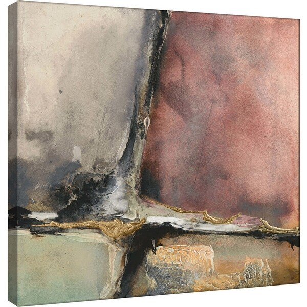 "PTM Images 9-100956 PTM Canvas Collection 12"" x 12"" - ""Gilded Crevice 7"" Giclee Abstract Art Print on Canvas"