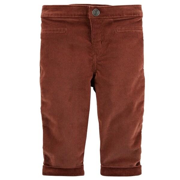 Shop Carter S Baby Boys Stretch Corduroy Pants Rust 12 Months