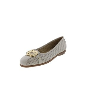 Aerosoles Womens High Bet Flats Leather Embellished