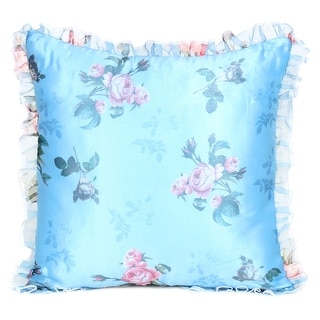 """Link to Oussum Decorative Cushion Covers Floral Pillow Cases Frill Pillow Cover 16""""x16"""" Single, Set of 2 , Set of 5 Similar Items in Scarves & Wraps"""