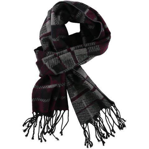 Club Room Mens Fringed Scarf, purple, One Size - One Size