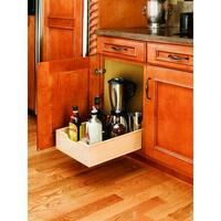 Shop Rev A Shelf 4wdb 15 Medium Wood Pull Out Cabinet