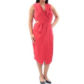 RACHEL ROY $139 Womens New 1409 Red Cut Out Sleeveless Sheath Dress 12 B+B