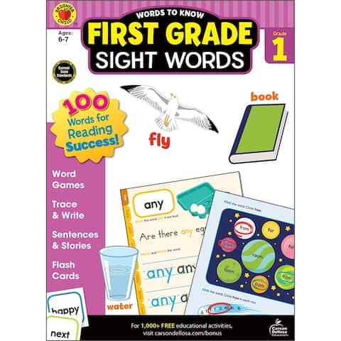 Brighter child words to know sight words grade 1 705235